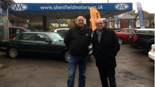 Simon Morris with Nick Robinson
