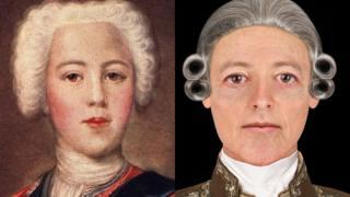 Bonnie Prince Charlie portrait and new facial depiction