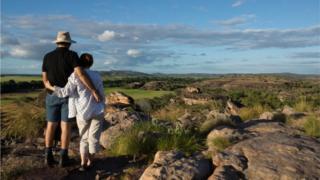 Tourists in Kakadu National Park, NT, Australia (file image)