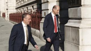 Dominic Raab and Philip Barton