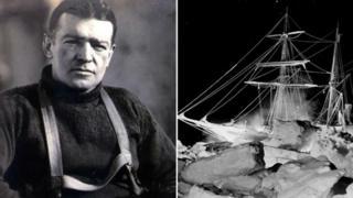 Ernest Shackleton and the ship, Endurance