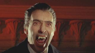 Christopher Lee in role of Dracula