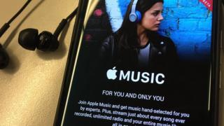 Apple Music on a smartphone