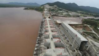 The large Ethiopian Renaissance dam (Gerd) was depicted in September 2019