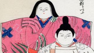 японский рисунок женщины