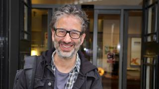 David Baddiel outside the BBC
