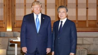 Donald Trump and Moon Jae-in meet in South Korea