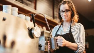 Female barista