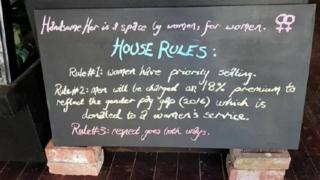 Vegan cafe's house rules