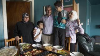 Syrian couple Thamer and Rashida and three of their children
