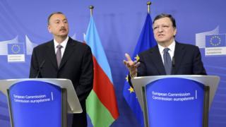 İlham Əliyev və Avropa Komissiyasının sabiq prezidenti Jose Manuel Barroso
