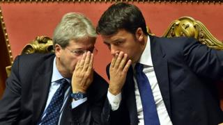 Mr Gentiloni and Matteo Renzi