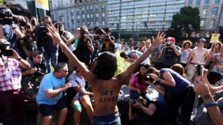 Kadınların üstsüz protestosu