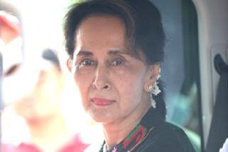 Bà Aung San Suu Kyi tại Yangon, Myanmar tháng 7/2019
