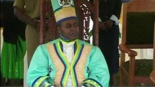 Charles Wesley Mumbere, the king of Rwenzururu