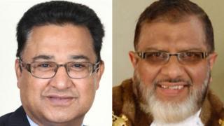 Ilyas Aziz (left) and Salim Mulla (right)