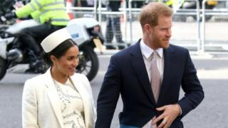 Meghan, Duchess of Sussex and Prince Harry, Duke of Sussex attend the Commonwealth Service on Commonwealth Day at Westminster Abbey