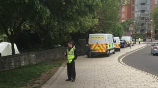Police at park by Redcliffe Hill in Bristol
