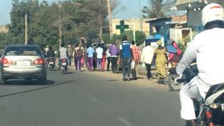 Les transporteurs protestent contre la hausse du prix de carburant par le gouvernement, il y a deux semaines.