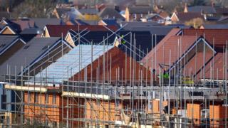 Housing development being built