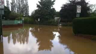 Flooding in Stockton in September 2012
