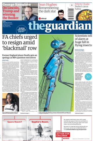 Newspaper headlines: FA chiefs 'urged to resign' and PM pledge