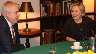 Carwyn Jones and Hillary Clinton