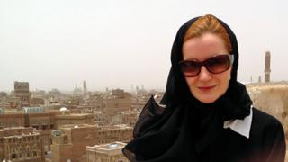 Elisabeth Kendall en Saná, capital de Yemen