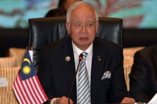 Malaysia's Prime Minister Najib Razak speaks during the plenary session of the 27th Association of Southeast Asian Nations (ASEAN) Summit in Kuala Lumpur on 21 November 2015