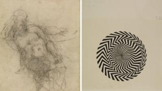 Michelangelo and Bridget Riley works from