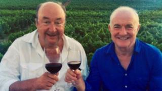 David Pritchard (l) and Rick Stein
