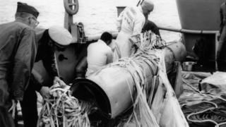 H-bomb recovered from off Spanish coast in April 1966