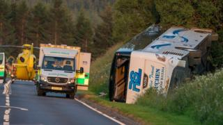 Bus crash on A96 between Huntly and Cairnie