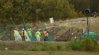 Search of landfill site in October