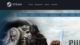 Steam homepage