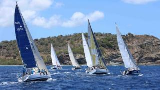 Sailing boats in the waters off Antigua & Barbuda
