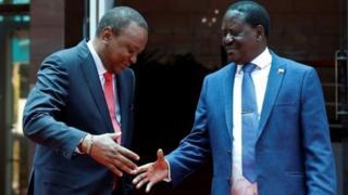Uhuru na Raila Odinga