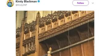 Kirsty Blackman tweet about a robin in the Commons chamber