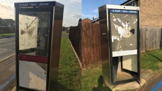 Damaged phone boxes