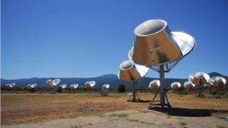 El telescopio Allen, que se ha unido a la búsqueda de posibles señales de radio alienígenas.