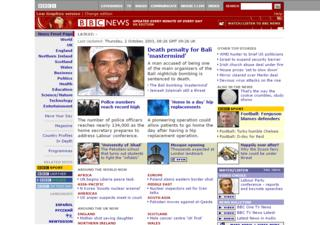 Front page from October 2003