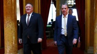 Technology Mike Pompeo and Dominic Raab
