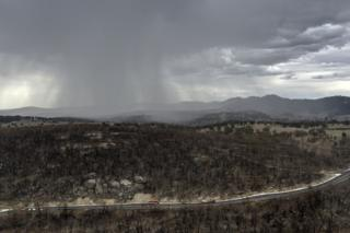 Rain begins to fall on drought and fire-ravaged country near Tamworth, New South Wales