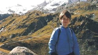 Nicholas Green en los Alpes suizos.