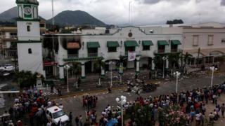 Акция протеста в городе Катемако