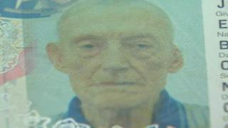 Evan Morgan Jones' passport photo