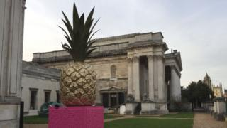 Pineapple sculpture