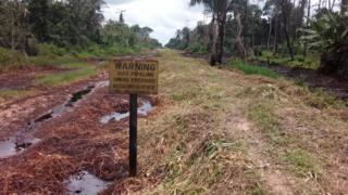 Oil spill site for Odau community
