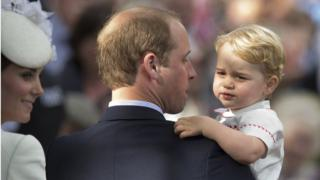 Prince George at Princess Charlotte's christening in Norfolk