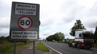 Border between Northern Ireland and Republic of Ireland